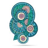 Henna Paisley Mehndi Doodles Abstract floral stock de ilustración