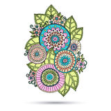 Henna Paisley Mehndi Doodles Abstract Floral Stock Image