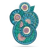 Henna Paisley Mehndi Doodles Abstract florale Illustration Libre de Droits