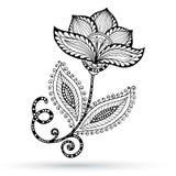 Henna Paisley Mehndi Doodles Abstract floreale Fotografia Stock Libera da Diritti