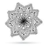 Henna Paisley Mehndi Doodles Abstract floreale Immagine Stock Libera da Diritti