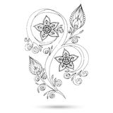 Henna Paisley Mehndi Doodles Design Element. Stock Photos