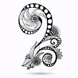Henna Paisley Mehndi Doodles Design Element. Stock Images