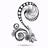 Henna Paisley Mehndi Doodles Design Element. Royalty Free Stock Image