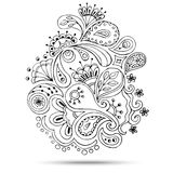 Henna Paisley Mehndi Doodles Design Element. Royalty Free Stock Photos