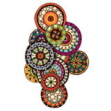 Henna Paisley Mehndi Doodles Element. Royalty Free Stock Photos