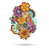 Henna Paisley Mehndi Floral Vector Element. Royalty Free Stock Image
