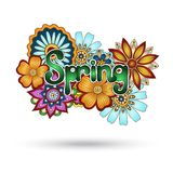 Henna Paisley Mehndi Floral Vector Element. Royalty Free Stock Photography
