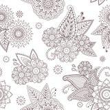 Henna Paisley Mehndi Tattoo Doodle Seamless Vector Pattern Stock Photo