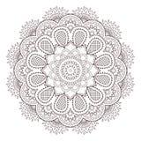 Henna paisley mehndi tattoo doodle seamless vector pattern Stock Photography