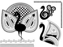 Henna peacock Stock Image