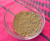 Henna powder in bowl Stock Photos