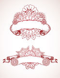 Henna Ribbons Royalty Free Stock Photo