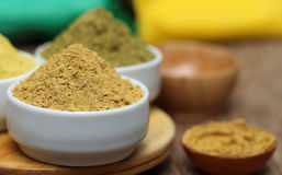 Henna and sandalwood powder Stock Photo