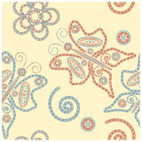 henna seamless ornament Royalty Free Stock Photos