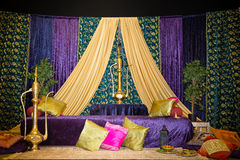 Henna stage. Decor for party royalty free stock photos