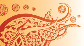 Henna Swirl. Ornate henna style design with an elephant feel Royalty Free Stock Photo