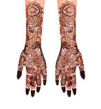Henna Tattoo Arkivfoto