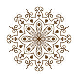 Henna tattoo brown mehndi flower template doodle ornamental lace decorative element and indian design pattern paisley Stock Images