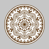 Henna tattoo brown mehndi flower template doodle ornamental lace decorative element and indian design pattern paisley. Arabesque mhendi embellishment vector Royalty Free Stock Photos