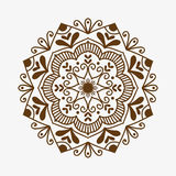 Henna tattoo brown mehndi flower template doodle ornamental lace decorative element and indian design pattern paisley Stock Photography