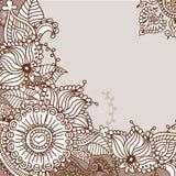 Henna tattoo doodle elements.Vector set. Stock Photos