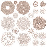 Henna tattoo doodle vector elements on white background Royalty Free Stock Images