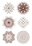 Henna tattoo doodle vector elements on white Royalty Free Stock Image
