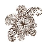 Henna tattoo flower template. Mehndi style. Set of ornamental patterns in the oriental style. Vector Stock Photos