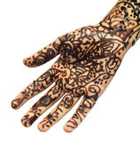 Henna tattoo on hand Royalty Free Stock Image