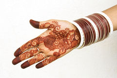 Henna tattoo on the hand Royalty Free Stock Photography