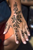 Henna tattoo on the hand Royalty Free Stock Photo