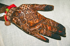 Henna Tattoo on Hands Royalty Free Stock Image