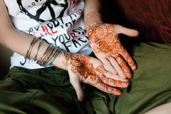 Henna tattoo, India Royalty Free Stock Photos