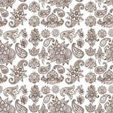 Henna tattoo mehndi flower doodle ornamental decorative indian design pattern paisley arabesque mhendi embellishment. Henna tattoo mehndi flower template doodle Royalty Free Stock Photos