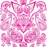 Henna tattoo mehndi flower doodle ornamental decorative indian design seamless pattern paisley arabesque embellishment Stock Photos