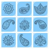 Henna tattoo mehndi flower doodle ornamental decorative indian design pattern paisley arabesque mhendi embellishment. Henna tattoo mehndi flower template doodle Royalty Free Stock Photography