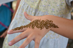 Henna Tattoo Painting Royalty Free Stock Photography