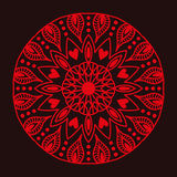 Henna tattoo red mehndi flower template doodle ornamental lace decorative element and indian design pattern paisley Stock Photography