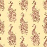 Henna tattoo seamless pattern mehndi flower doodle ornamental decorative indian design pattern paisley arabesque mhendi Royalty Free Stock Photo