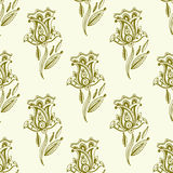 Henna tattoo seamless pattern mehndi flower doodle ornamental decorative indian design pattern paisley arabesque mhendi Royalty Free Stock Photography
