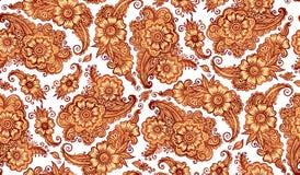 Henna tattoo style vector seamless pattern Stock Photography