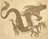 Henna Tattoo Tribal Dragon Stock Photos