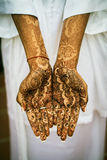 Henna Tattoos. Image of Henna Tattoo's on an Indian bride's hands stock image