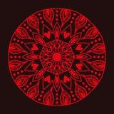 Henna tatuażu mehndi kwiatu szablonu czerwonego doodle ornamentacyjny koronkowy dekoracyjny element i indyjski projekt deseniujem Fotografia Stock