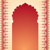 Henna temple gate design Stock Photo