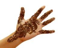 Henna or temporary tattoo Stock Image