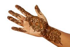 Henna or temporary tattoo Royalty Free Stock Photos
