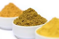 Henna uptan sandalwood powder. On ceramic bowl Royalty Free Stock Photo