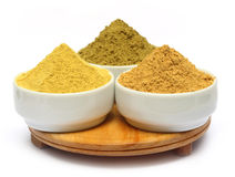 Henna uptan sandalwood powder. On ceramic bowl Royalty Free Stock Images